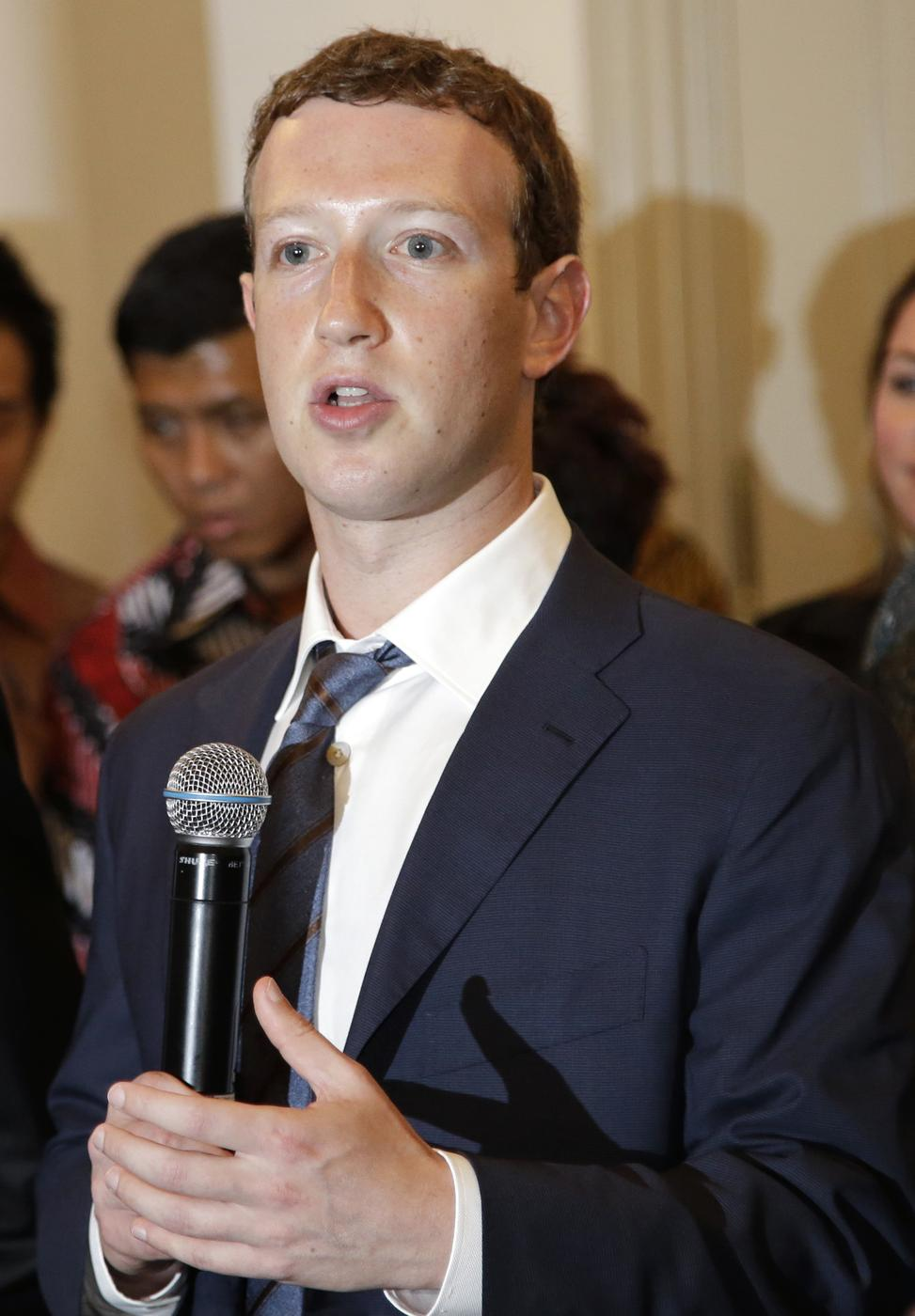 Facebook CEO Mark Zuckerberg, Ebola
