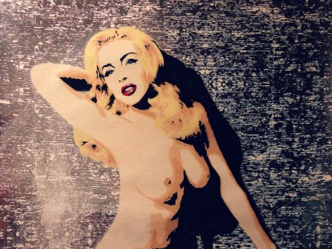Lindsay Lohan naked: Actress channels Marilyn Monroe in commissioned painting
