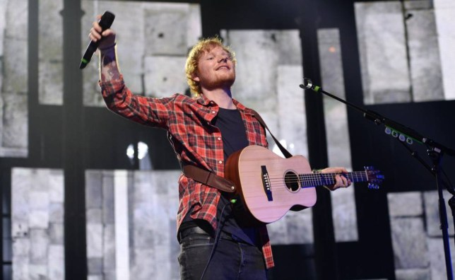 30 Sep 2014 - LONDON - UK  ED SHEERAN PERFORMING AT NIGHT 29 OF THE ITUNES FESTIVAL AT THE ROUNDHOUSE IN CAMDEN.    BYLINE MUST READ : TIMMS/XPOSUREPHOTOS.COM  ***UK CLIENTS - PICTURES CONTAINING CHILDREN PLEASE PIXELATE FACE PRIOR TO PUBLICATION ***  **UK CLIENTS MUST CALL PRIOR TO TV OR ONLINE USAGE PLEASE TELEPHONE   44 208 344 2007 **