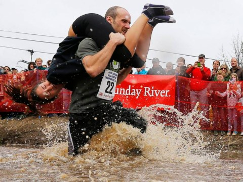 Wife-carrying race – the greatest gentlemanly act or soggy grounds for divorce