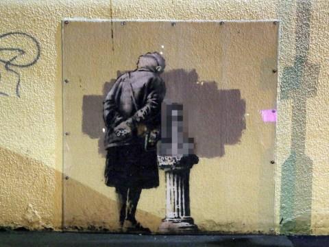 Banksy artwork has penis drawn onto it by vandals
