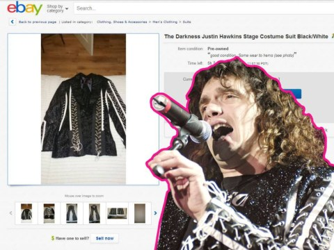 Justin Hawkins from The Darkness is selling his stage outfits on eBay