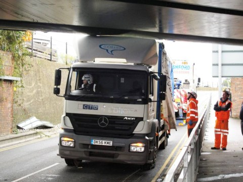 Slider picture shows how times change… but bad truck drivers stay the same