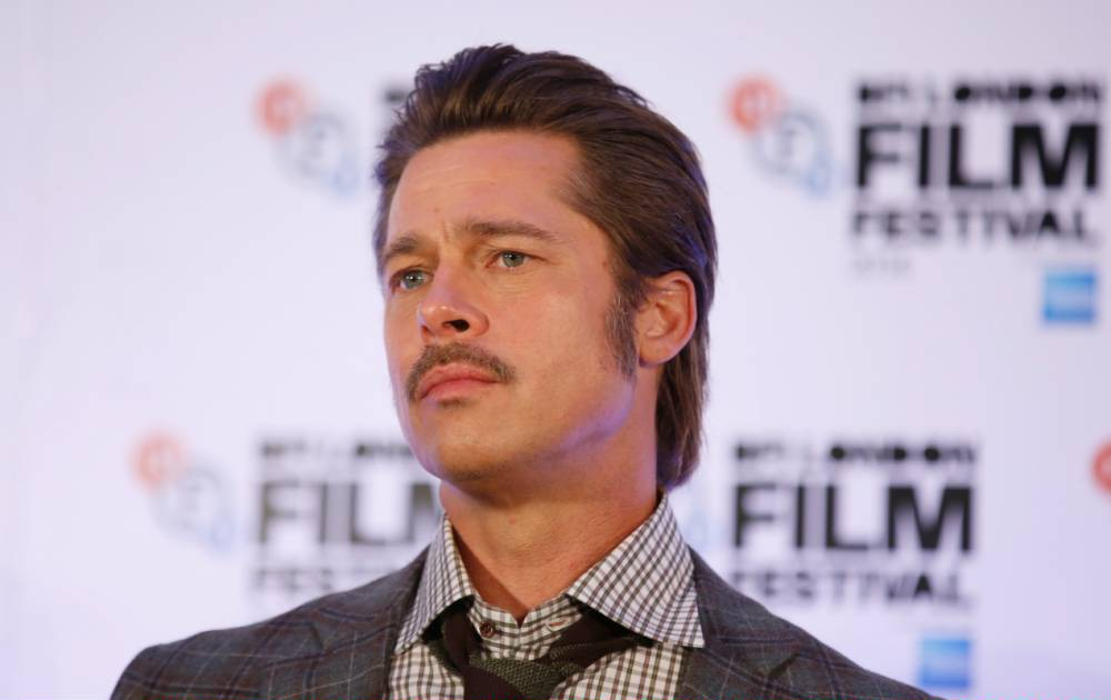 """LONDON, ENGLAND - OCTOBER 19: Actor Brad Pitt attends the press conference for """"Fury"""" during the 58th BFI London Film Festival at The Corinthia Hotel on October 19, 2014 in London, England. (Photo by Tim P. Whitby/Getty Images for BFI)"""