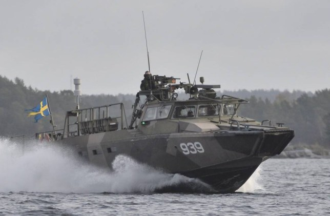 Mandatory Credit: Photo by IBL/REX (4215818c)  Sweden hunts a suspected foreign submarine off the Stockholm coast  Sweden hunts suspected foreign submarine off Stockholm coast, Sweden  - 20 Oct 2014
