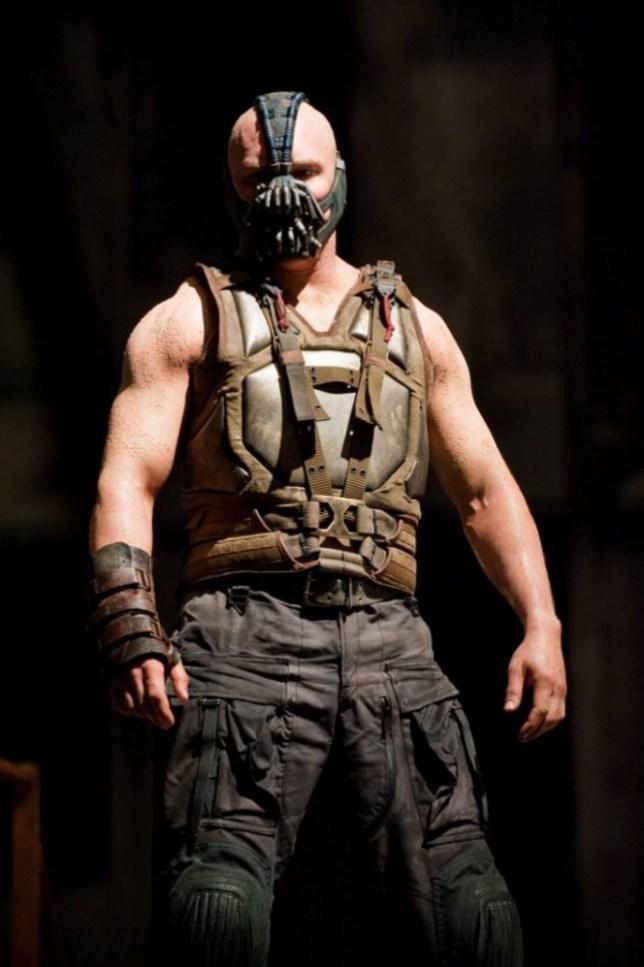 Film: Batman The Dark Knight Rises (2012).  Starring Tom Hardy as Bane.   DKR-07617.jpg