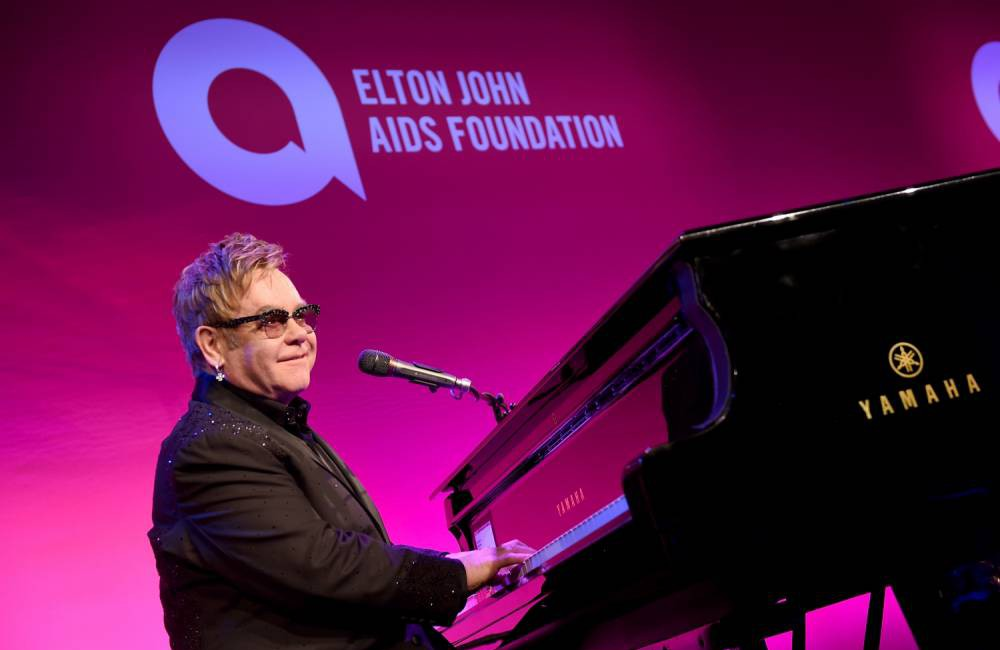 NEW YORK, NY - OCTOBER 28:  Founder Sir Elton John performs onstage at the Elton John AIDS Foundation's 13th Annual An Enduring Vision Benefit at Cipriani Wall Street on October 28, 2014 in New York City.  (Photo by Larry Busacca/Getty Images)