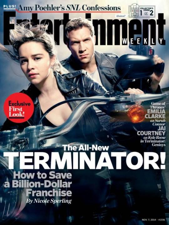 Terminator: Genisys (or Terminator 5) starring Emilia Clarke as Sarah Connor and Jai Courtney