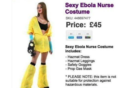 Never fear, there is a Sexy Ebola Nurse costume for you to wear this Halloween