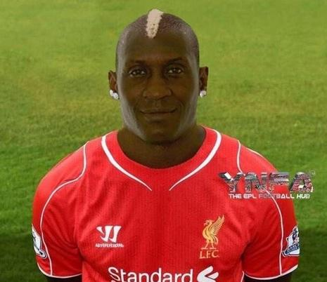 This 'close up' picture of Liverpool's Mario Balotelli might explain his poor form this season…