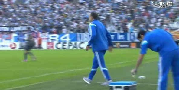 Marseille boss Marcelo Bielsa burns his bum in coffee prank