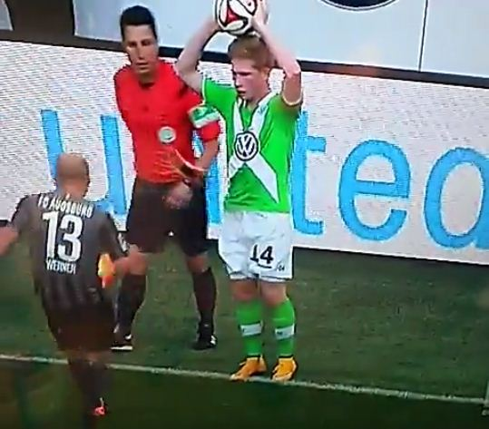 ffa279b219cd Ex-Chelsea midfielder Kevin De Bruyne has football boot flung at his groin  during Wolfsburg game | Metro News