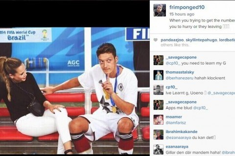 Emmanuel Frimpong uses Mesut Ozil picture for cheeky Instagram message