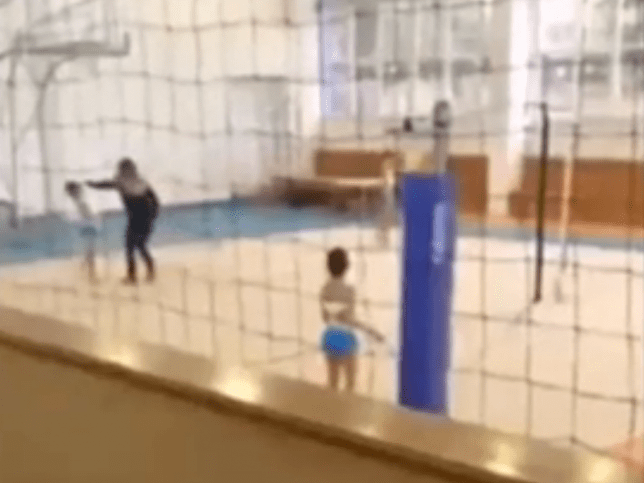 Teacher caught on camera hitting young gymnast repeatedly