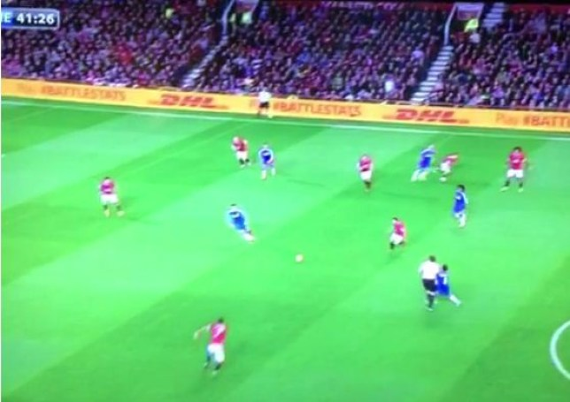 Phil Dowd took out Cesc Fabregas (Picture: Vine)