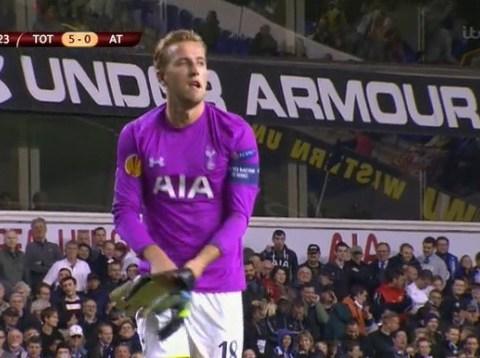 Tottenham's Harry Kane isn't a bad striker, but he's a shocking goalkeeper