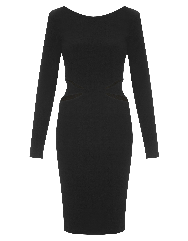 Lipsy Brand New Black White  Lace Party Bodycon Dress Size 6  RRP £58