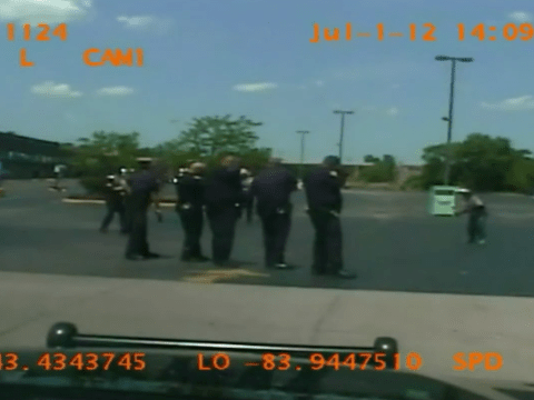 New footage emerges showing homeless man being shot at 46 times by police