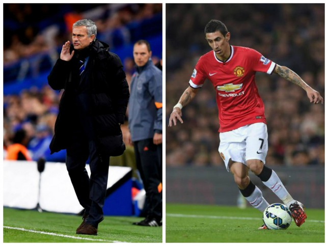 Jose Mourinho (left) could trip up Angel Di Maria (right) (Pictures: Getty)
