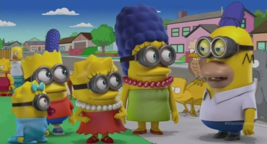 Ever wondered what The Simpsons would look like as minions? This (Picture: FOX)
