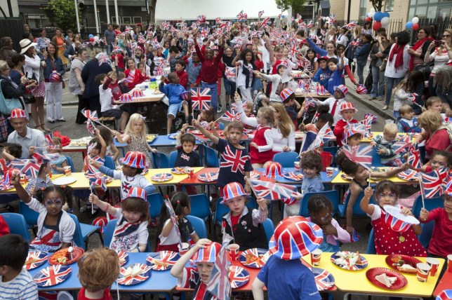 Street party, immigrants