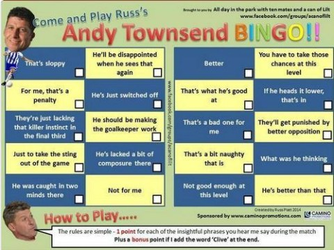 Fans mock Andy Townsend's commentary during England game with bingo jibe and memes