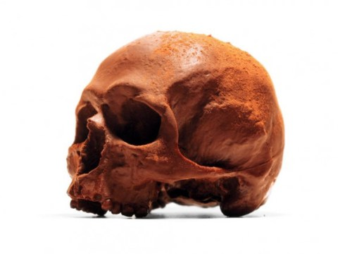 Is your Halloween party complete without this anatomically correct chocolate skull?