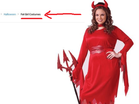 Walmart apologises for advertising Halloween costumes for 'fat girls', uh oh