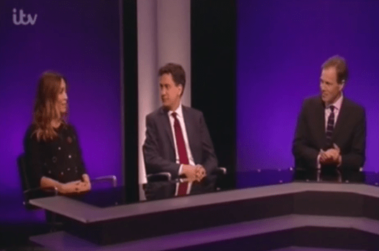 Klass said Miliband's proposed tax would only hit 'grannies' and not the super-rich (Picture: ITV)