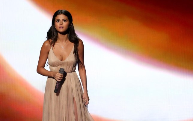 Selena Gomez performs at the 42nd annual American Music Awards at Nokia Theatre L.A. Live on Sunday, Nov. 23, 2014, in Los Angeles. (Photo by Matt Sayles/Invision/AP) Matt Sayles/Invision/AP