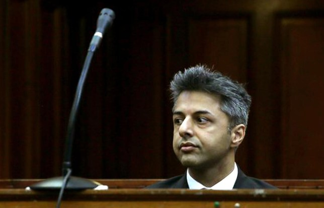 FILE - In this Monday, Oct. 6, 2014 file photo, British businessman Shrien Dewani appears in the high court in Cape Town, South Africa charged with orchestrating the killing of his wife Anni Dewani, while on honeymoon in the country four years ago. Dewan's lawyer, Francois van Zyl, said he plans to file an application on Wednesday, Nov.19, 2014 on the basis that state prosecutors had failed to prove that their client had orchestrated his wife's murder. The prosecution is expected to file their response on Friday. (AP Photo/Nardus Engelbrecht, Pool, File) AP Photo/Nardus Engelbrecht, Pool, File