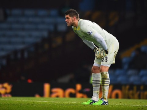 Fraser Forster realises he's not Manuel Neuer with mistake during Aston Villa v Southampton