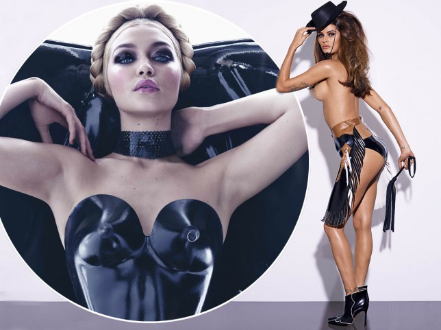 Hello Boys: Gigi Hadid, Adriana Lima and Karen Elson flash some flesh in the 2015 Pirelli Calendar
