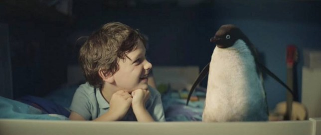Undated handout image issued by John Lewis of a scene from the retailers much anticipated Christmas campaign, this year it tells the story of the friendship between Sam (left) and Monty the penguin. PRESS ASSOCIATION Photo. Issue date: Thursday November 6, 2014. See PA story CONSUMER JohnLewis. Photo credit should read: John Lewis/PA Wire NOTE TO EDITORS: This handout photo may only be used in for editorial reporting purposes for the contemporaneous illustration of events, things or the people in the image or facts mentioned in the caption. Reuse of the picture may require further permission from the copyright holder.