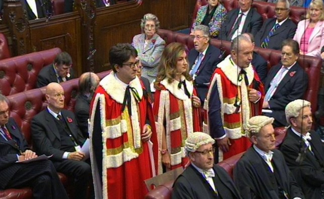 Baroness Brady has taken her seat in the House of Lords today (Picture: PA)