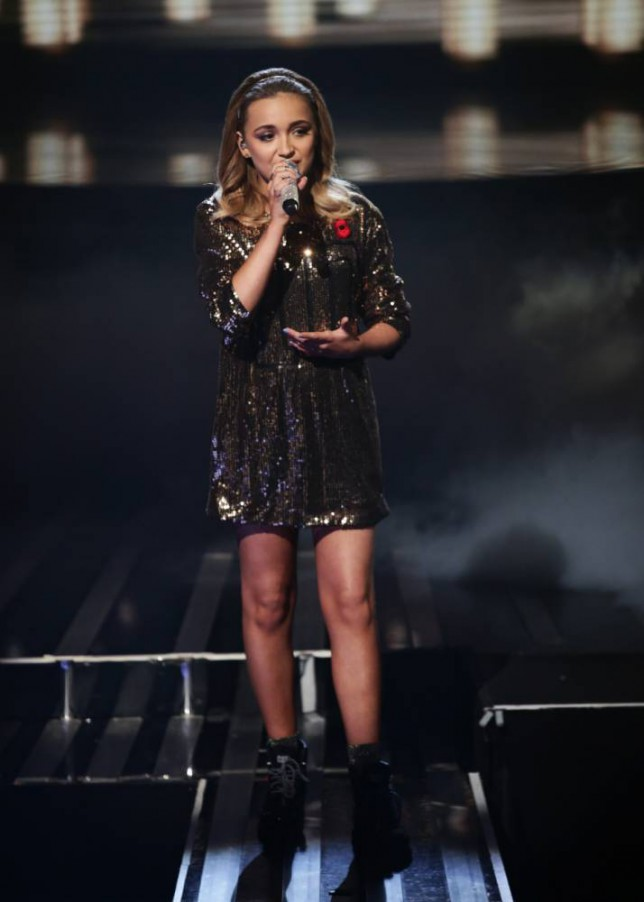 *** MANDATORY BYLINE TO READ: Syco / Thames / Corbis ***<BR/> Lauren Platt performs at the X Factor live show in London. <P> Pictured: Lauren Platt <B>Ref: SPL885651  081114  </B><BR/> Picture by: Tom Dymond/Syco/Thames/Corbis<BR/> </P>