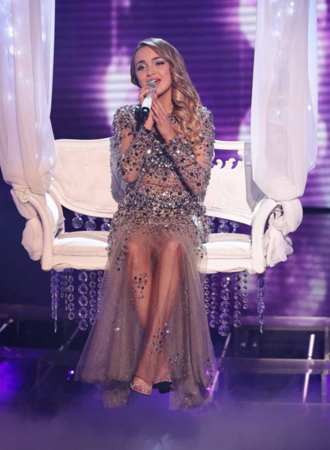 *** MANDATORY BYLINE TO READ: Syco / Thames / Corbis ***<BR/> The X Factor contestants are seen at the live X Factor show in London, this week's theme, Big Band Week. Credit: Dymond/Syco/Thames/Corbis <P> Pictured: Lauren Platt <B>Ref: SPL891262  151114  </B><BR/> Picture by: Syco / Thames / Corbis<BR/> </P>