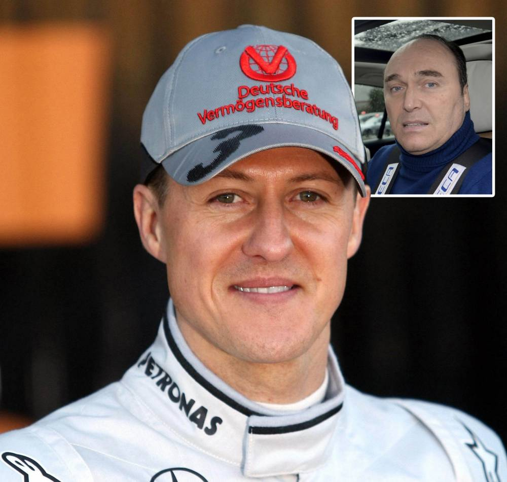 Michael Schumacher in a wheelchair and unable to speak