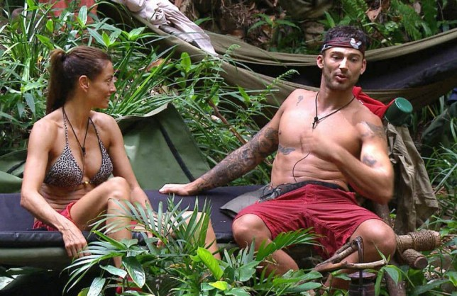 ***EMBARGO NOT TO BE USED BEFORE 21:00, 22 Nov 2014 - EDITORIAL USE ONLY - NO MERCHANDISING***  Mandatory Credit: Photo by REX (4267132ez)  Melanie Sykes, Jake Quickenden  'I'm A Celebrity...Get Me Out Of Here!' TV Programme, Australia - 22 Nov 2014  Jake chatting to the girls