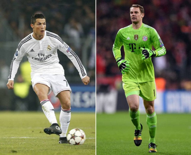 Manuel Neuer (right) is perhaps Cristiano Ronaldo's biggest competitor for the Ballon d'Or this year