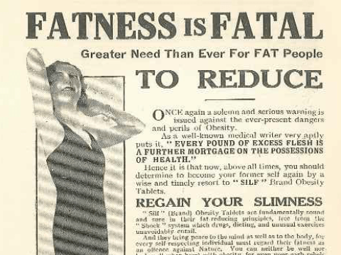 1933 advert proves fat shaming isn't a new thing