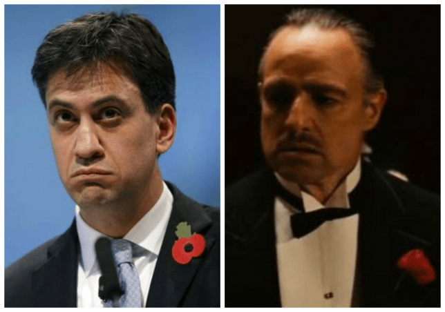 Ed Miliband of the Labour Party versus Vito Corleone of the Mafia