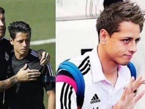 The Cristiano Ronaldo effect! On-loan Manchester United striker Javier Hernandez has two haircuts in two days at Real Madrid