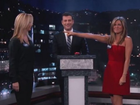 Just everyone's fave Friends Lisa Kudrow and Jennifer Aniston swearing at each other