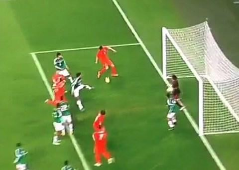 Perennial Arsenal transfer target Klaas-Jan Huntelaar misses absolute sitter from two yards
