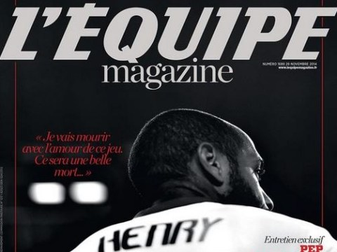 French newspaper L'Equipe dedicates 100 pages to Arsenal legend Thierry Henry ahead of his potential retirement