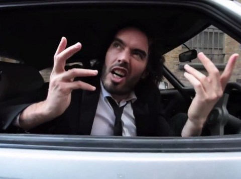 Russell Brand hits out at Starbucks and 'arse wipe' David Cameron in Parklife parody song video