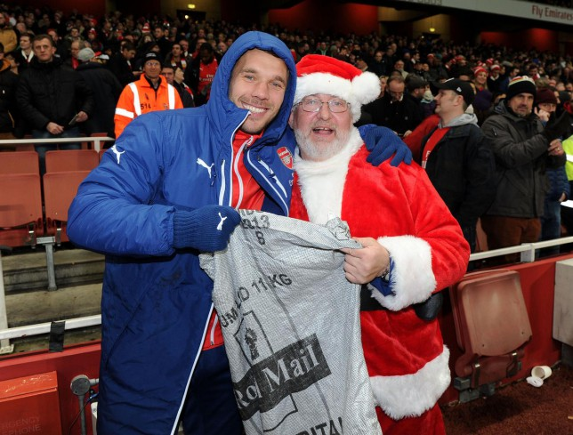 c72e113fa Lukas Podolski carried out a lovely gesture for those in need ahead of  Christmas (Picture  Getty Images)