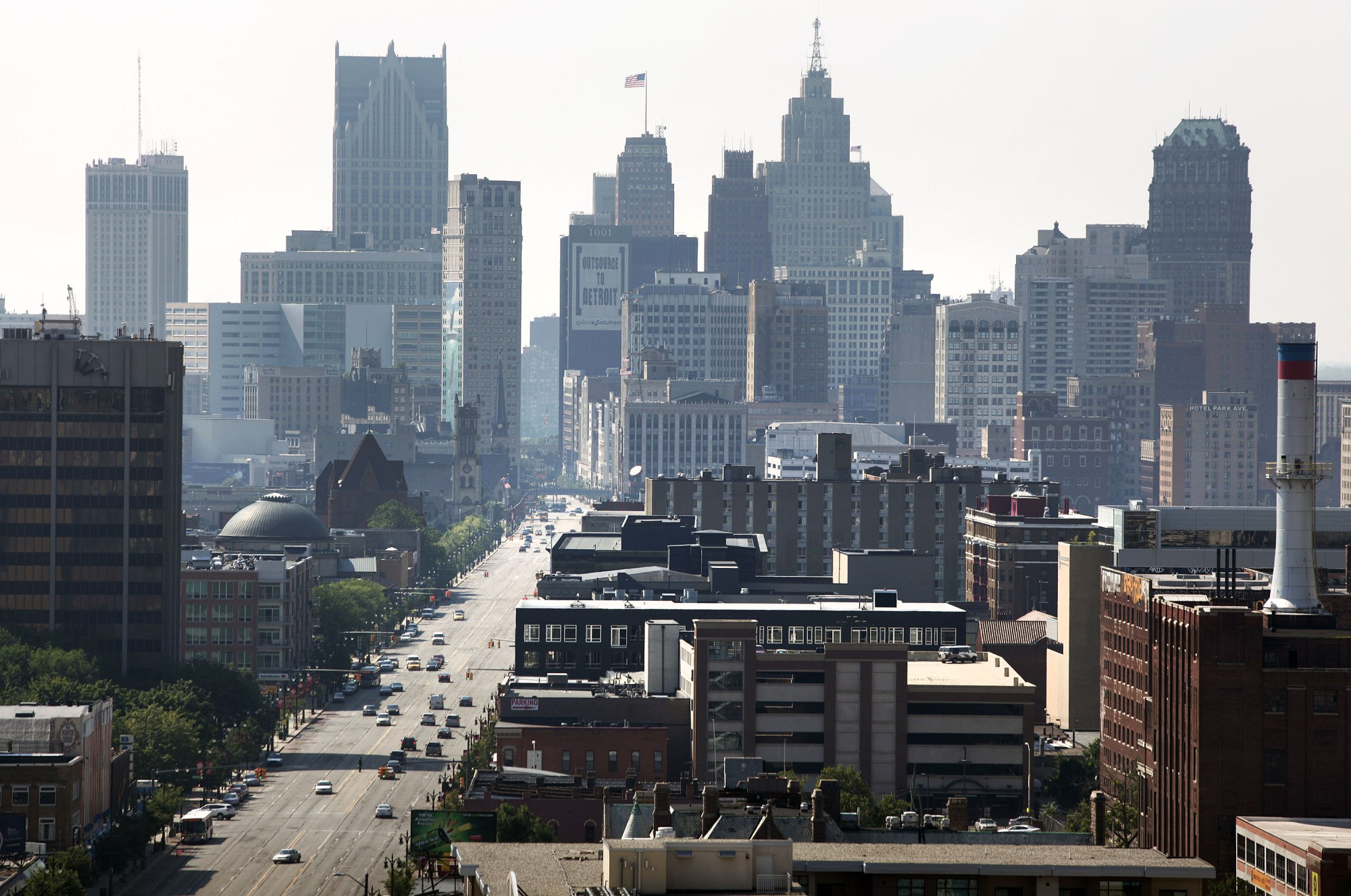 Jails on lockdown and residents trapped in lifts after power cut hits Detroit