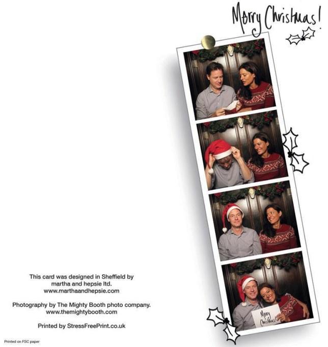 Nick Clegg, Christmas card
